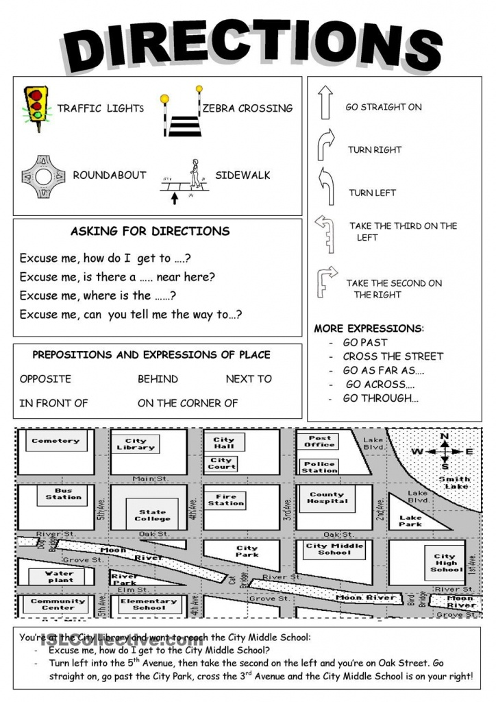 Directions | Free Esl Worksheets Repinnedchesapeake College - Vocabulary Maps Printable Free