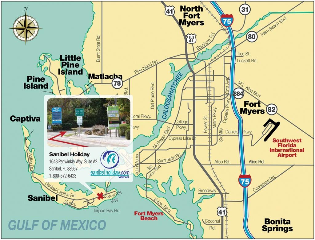 Directions To Sanibel Island   Sanibel Holiday - Sanibel Island Florida Map