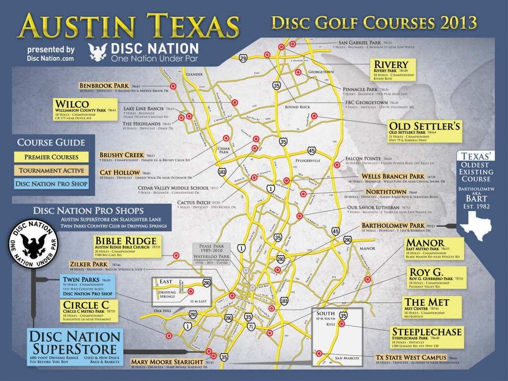 Disc Golf Superstore - Disc Nation, The Original - Map Store Austin Texas