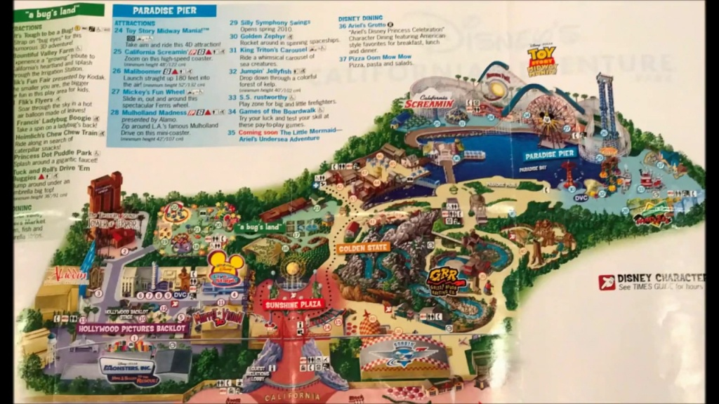 Disney California Adventure Maps Over The Years #1 - See Video #2 - California Adventure Map 2017
