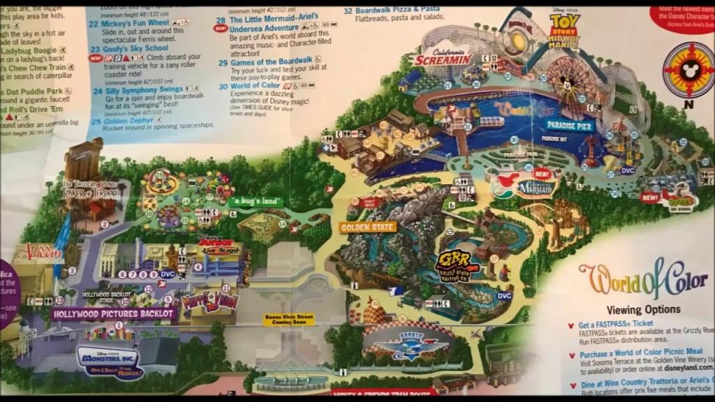 Disney California Adventure Maps Over The Years #2 See Video #3 Its - Disneyland Map 2018 California
