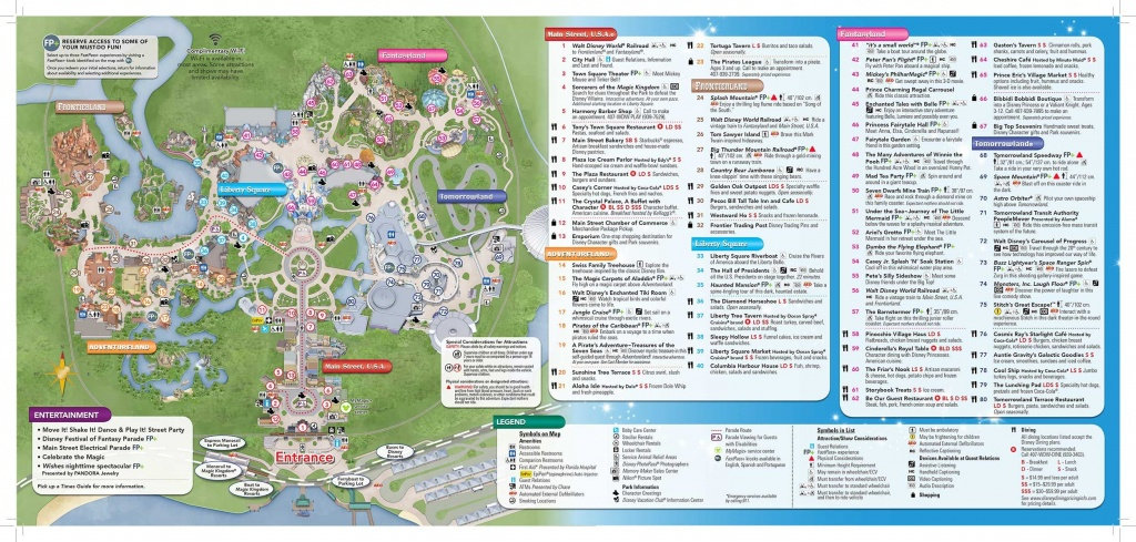 Disney-Magic-Kingdom-Map In 2019 | Virtual Magic Kingdom | Disney - Wdw Maps Printable