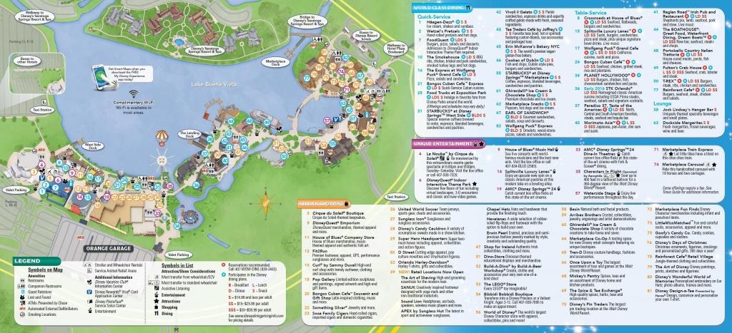 Disney Springs | Places | Disney Springs, Downtown Disney, Disney Map - Disney Springs Map Printable