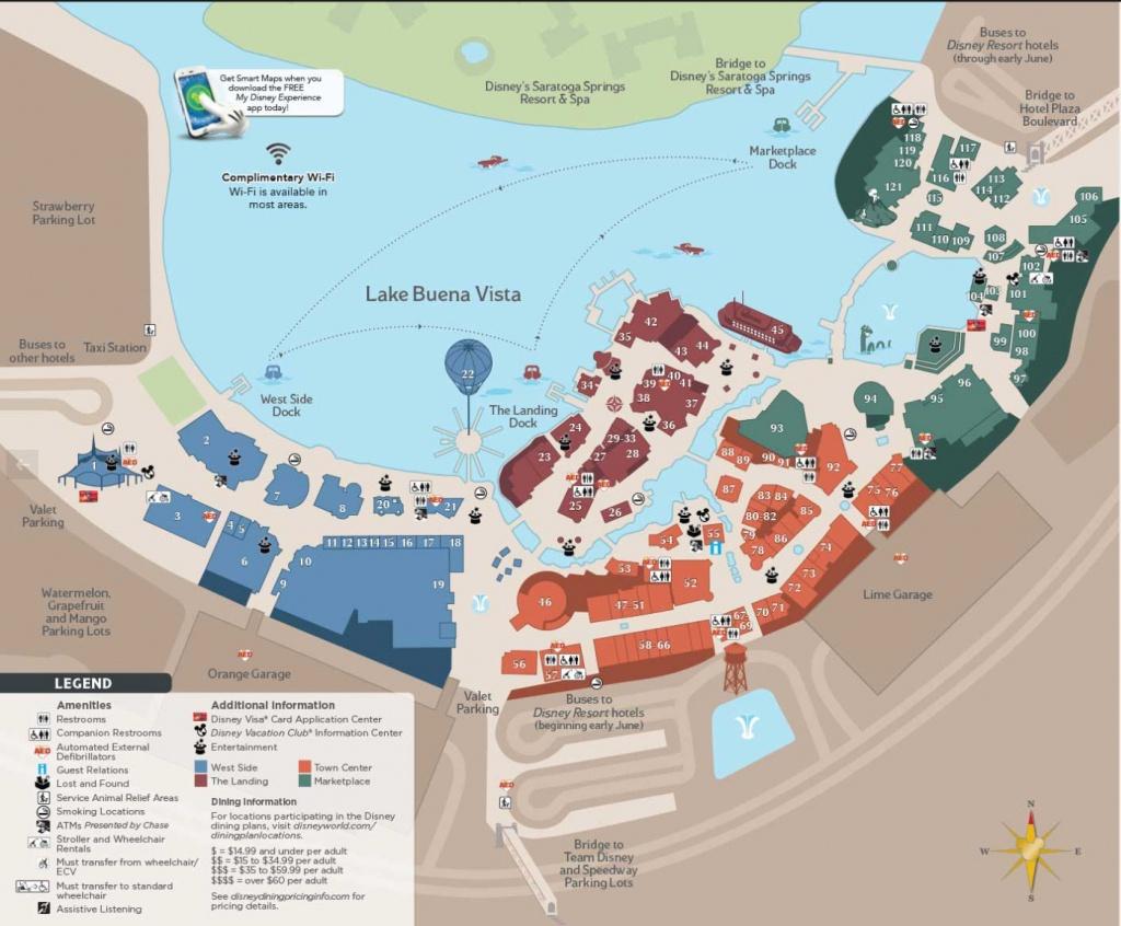 Disney Springs Town Center Update – Easywdw - Map Of Disney Springs Florida