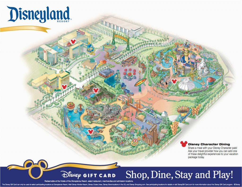 Disney World California Map Disneyland Park California Map Printable - Printable Disneyland Park Map