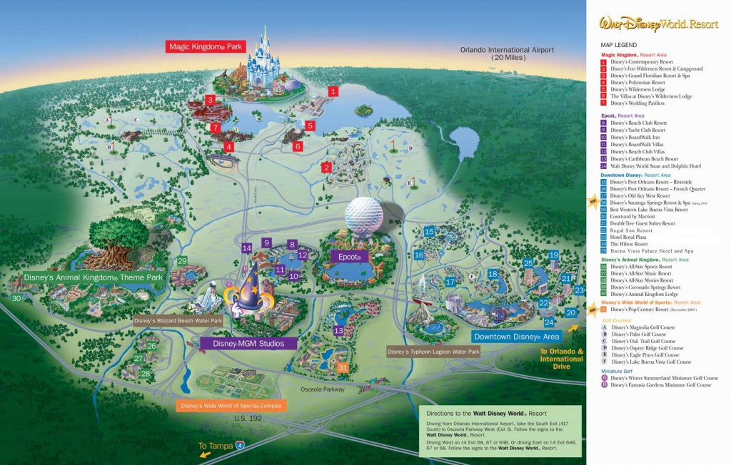 Disney World Florida Map | Dehazelmuis - Disney Springs Florida Map
