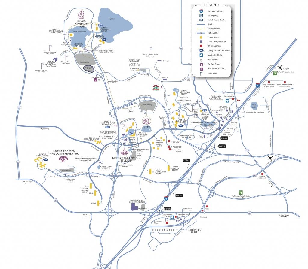 Disney World Map - Bferryhomes And 1031Orlando - Champions Gate Florida Map