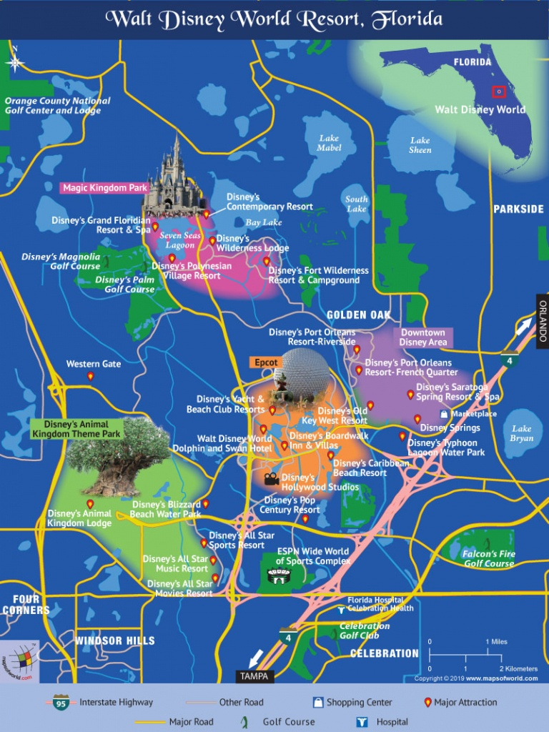 Disney World Map - Map Of Disney World In Florida
