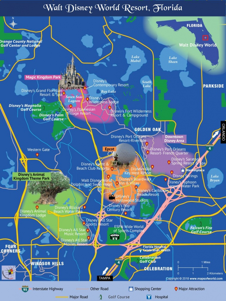 Disney World Map | Travel In 2019 | Disney World Map, Disney Map - Map Of All Springs In Florida