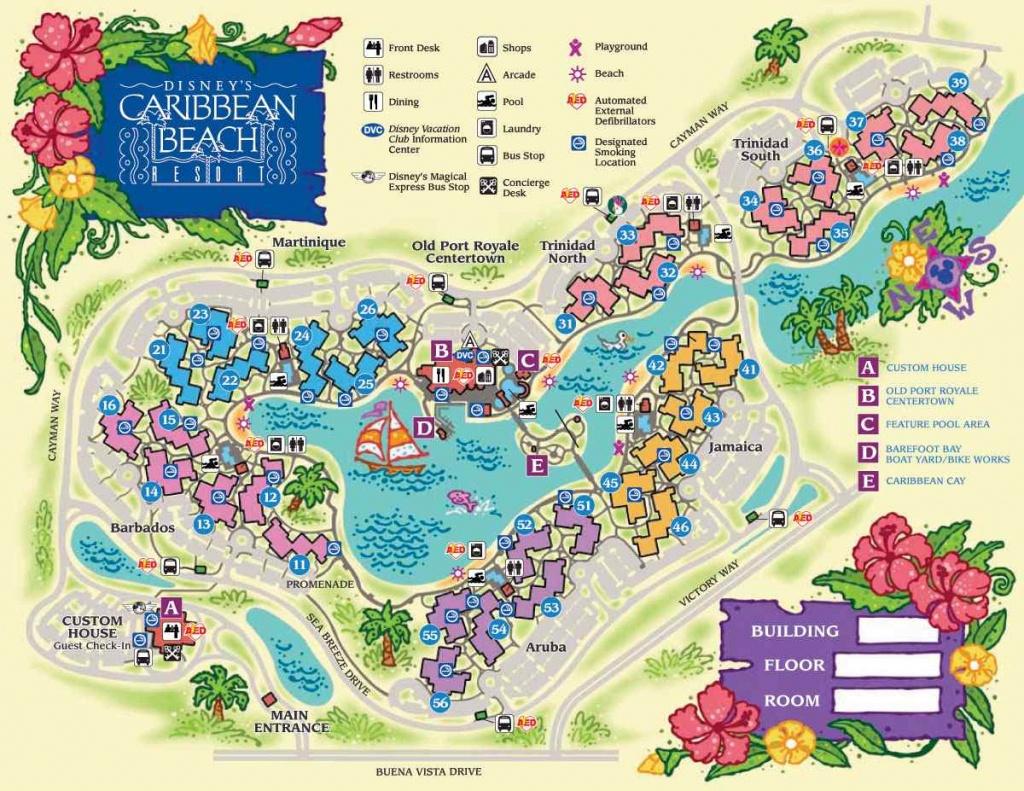 Disney World Maps For Each Resort - Disney Resorts Florida Map