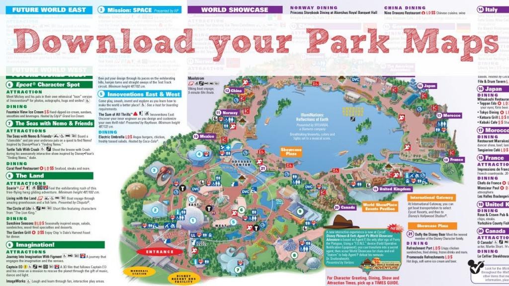 Disney World Maps - Youtube - Map Of Disney World In Florida