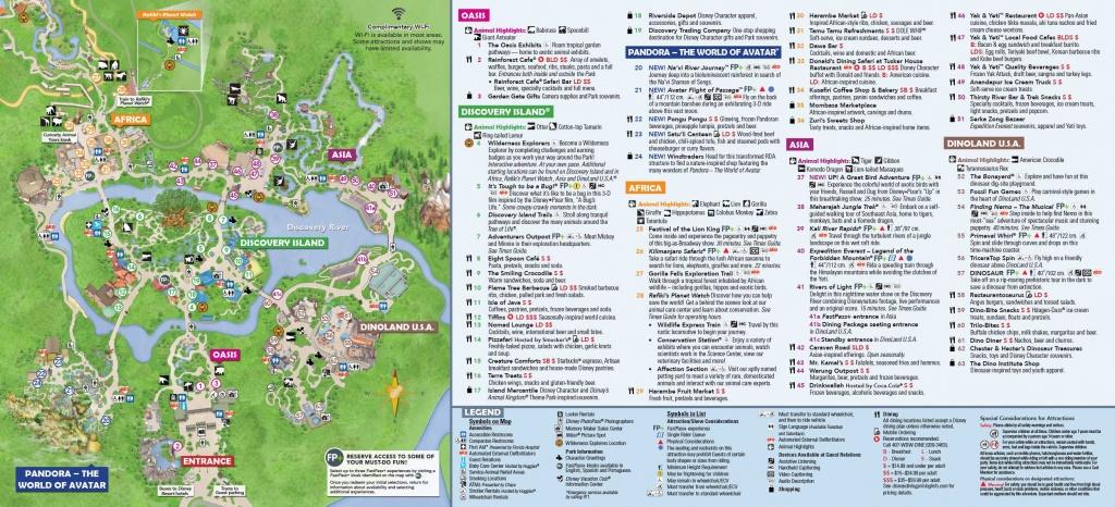 Disney World Theme Park Maps 2017 Disney S Animal Kingdom Map Theme - Disney World Map 2017 Printable