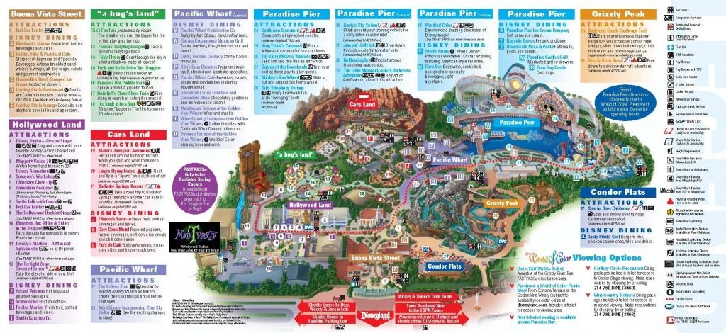 Disneyland California Adventure Park Map | Park Maps Disneyland Park - California Adventure Map