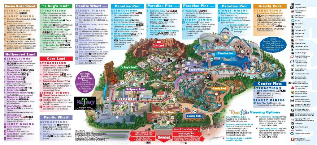 Disneyland California Adventure Park Map | Park Maps Disneyland Park - Printable Map Of Disneyland California