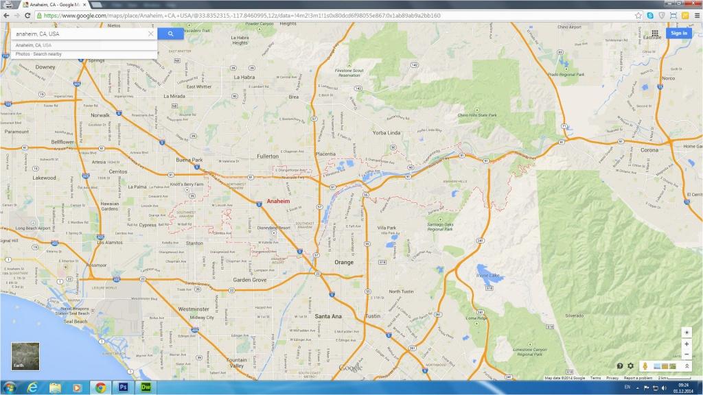Disneyland California Google Maps Google Maps Disneyland California - Printable Google Maps