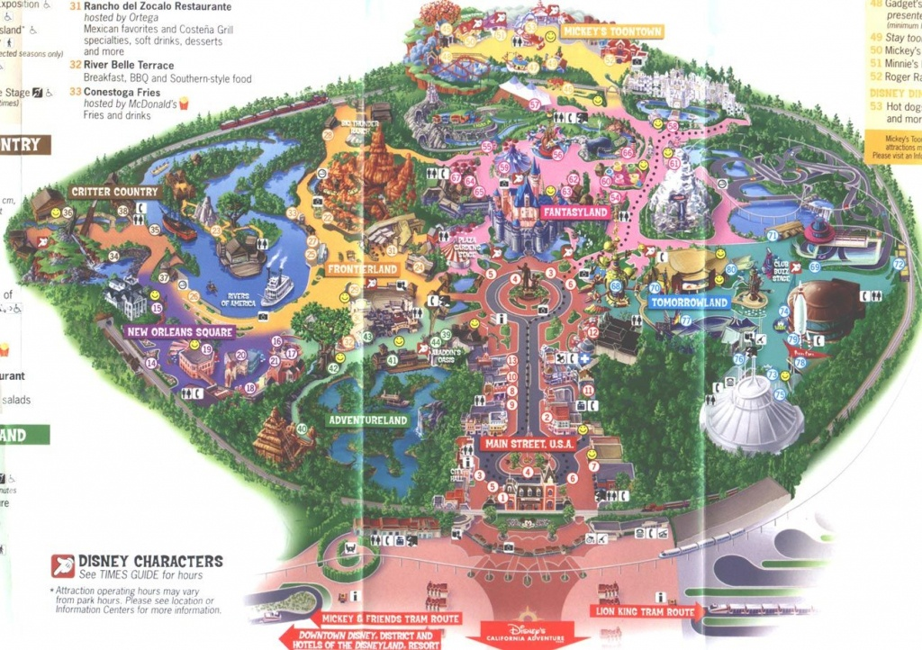 Disneyland Map 2006 | Places I've Been And Loved | Disneyland - Southern California Theme Parks Map