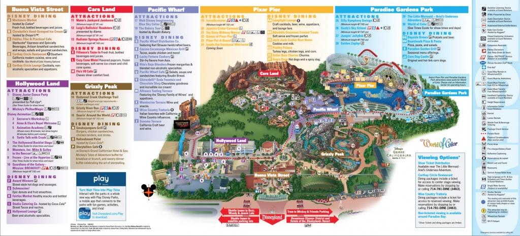Disneyland Park Map In California, Map Of Disneyland - California Adventure Map Pdf