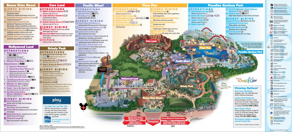 Disneyland Park Map In California, Map Of Disneyland - California Adventure Map