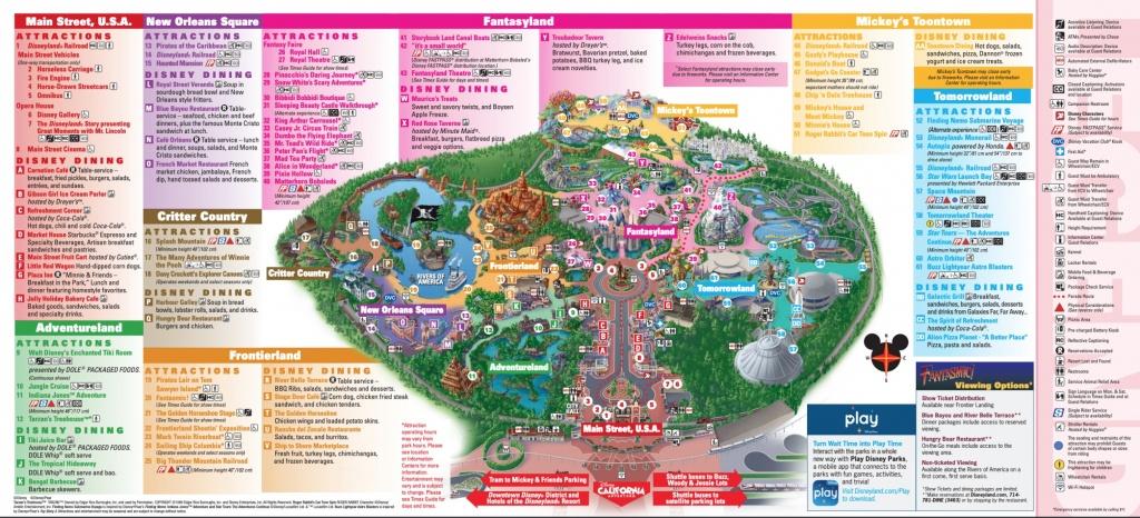 Disneyland Theme Parks, Disneyland Park California Adventure - Disney World California Map