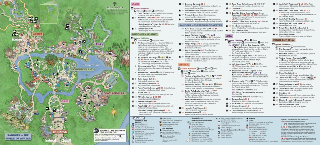 Disney's Animal Kingdom Map Theme Park Map - Disney Florida Maps 2018
