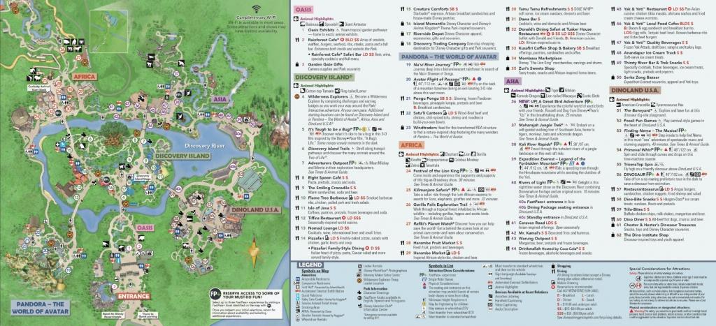 Disney's Animal Kingdom Map Theme Park Map - Printable Maps Of Disney World Parks