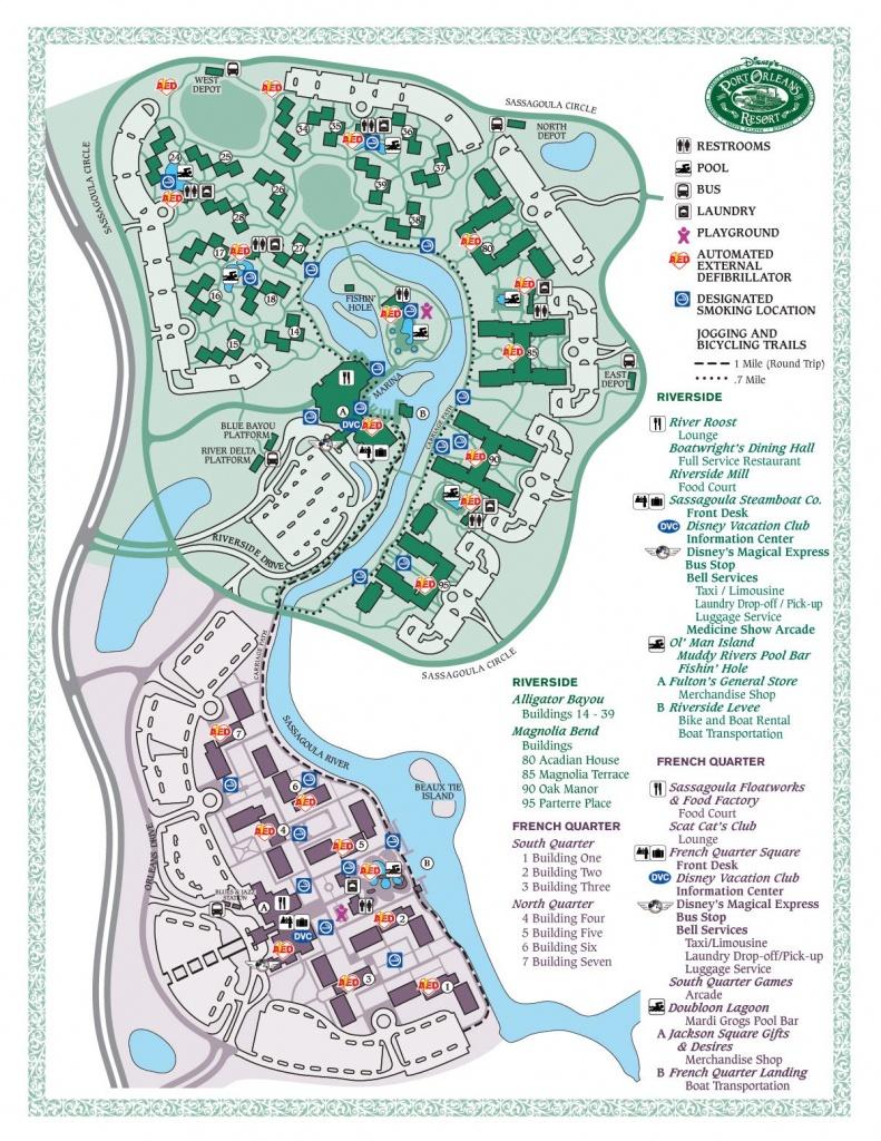 Disney's Port Orleans French Quarter Map - Wdwinfo - Printable French Quarter Map