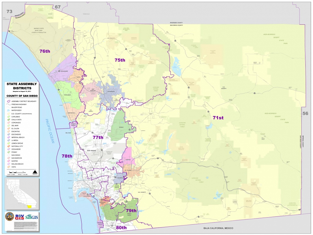 District Maps - San Diego County Zip Code Map Printable