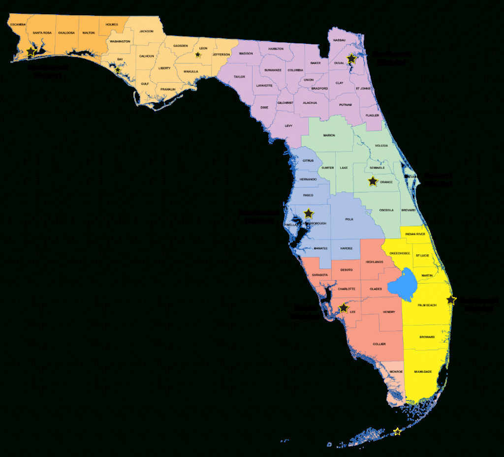 Districts   Florida Department Of Environmental Protection - Florida District 6 Map