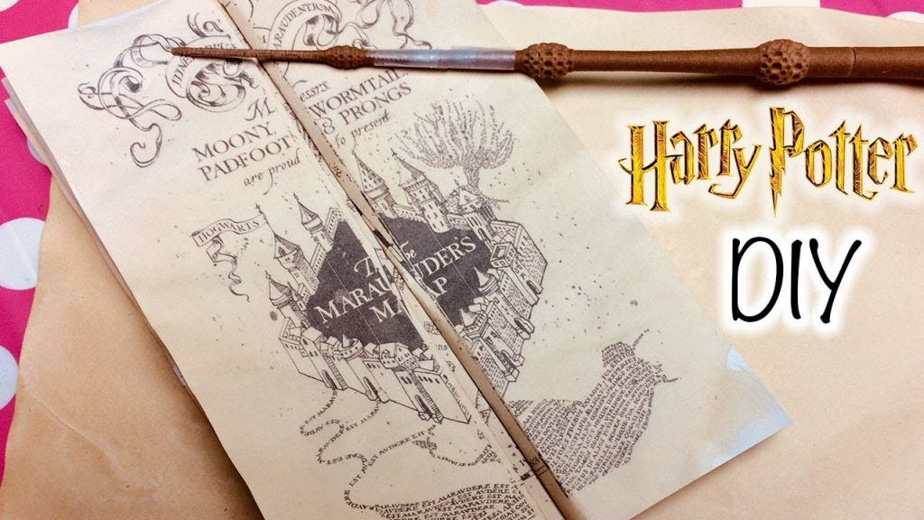 Diy Harry Potter Marauder's Map Printable And Parchment Easy Diy - Harry Potter Marauders Map Printable