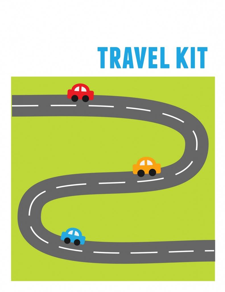 Diy Kids' Travel Binder + Free Printable Road Trip Games - Printable Travel Maps For Kids