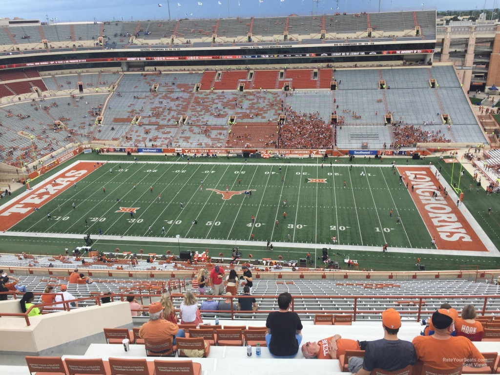 Dkr-Texas Memorial Stadium Section 103 - Rateyourseats - Dkr Texas Memorial Stadium Map