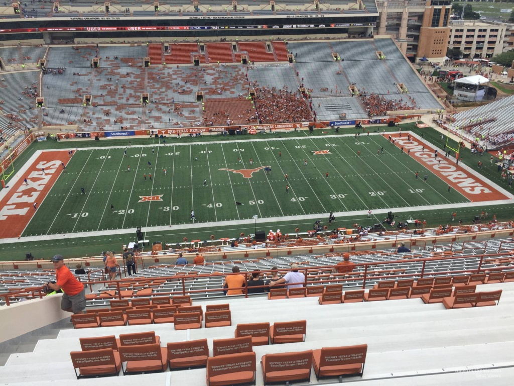 Dkr-Texas Memorial Stadium Section 105 - Rateyourseats - Texas Longhorn Stadium Seating Map