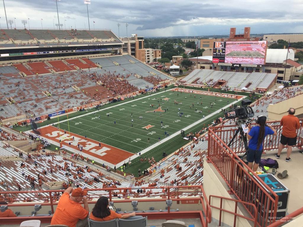 Dkr-Texas Memorial Stadium Section 111 - Rateyourseats - Dkr Texas Memorial Stadium Map