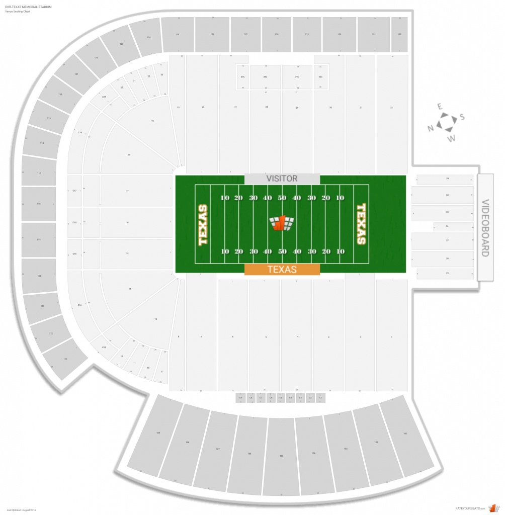 Dkr-Texas Memorial Stadium (Texas) Seating Guide - Rateyourseats - University Of Texas Stadium Map