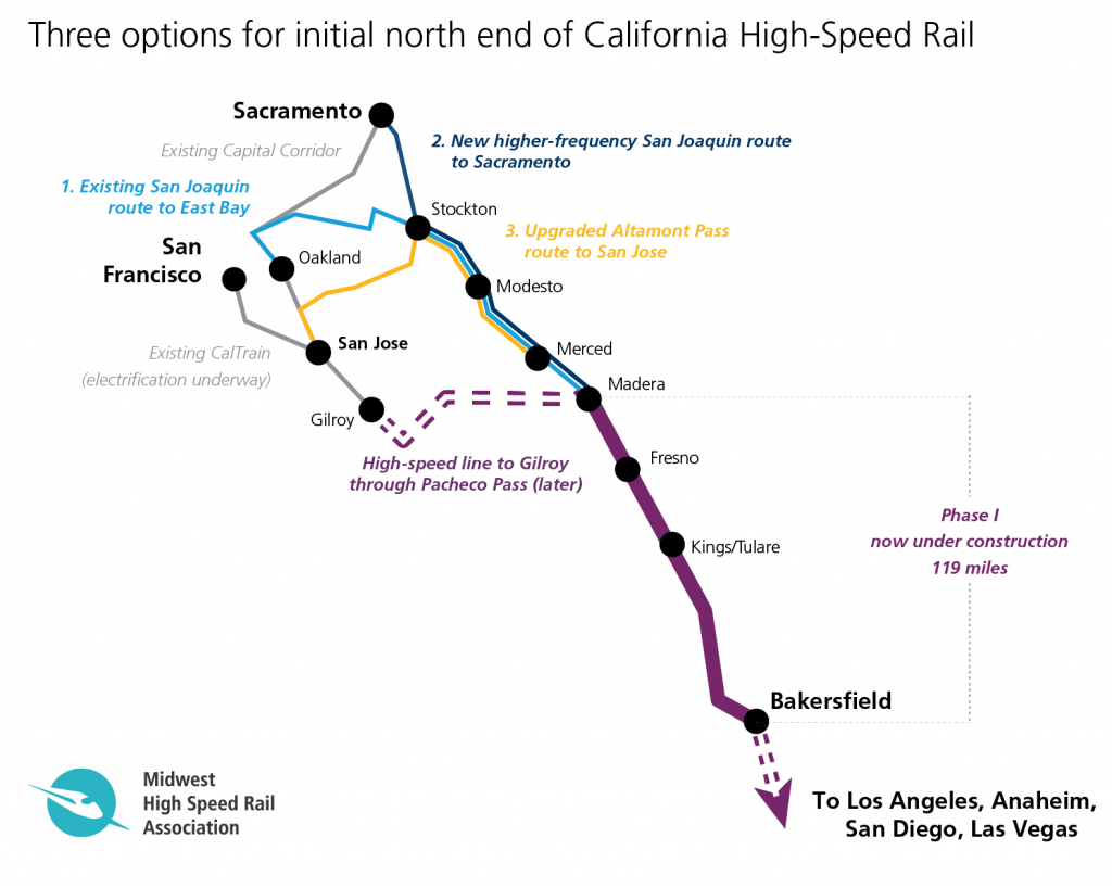 Does California Have More Options Than It Realizes For First High - California High Speed Rail Project Map
