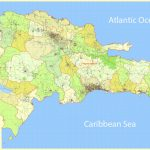 Dominican Republic Map Extra Detailed 01 Printable, Exact Vector Map   Free Printable Map Of Dominican Republic