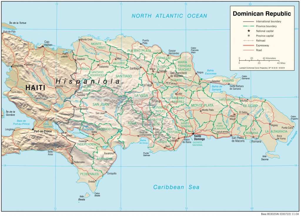 Dominican Republic Maps - Perry-Castañeda Map Collection - Ut - Printable Map Of Dominican Republic