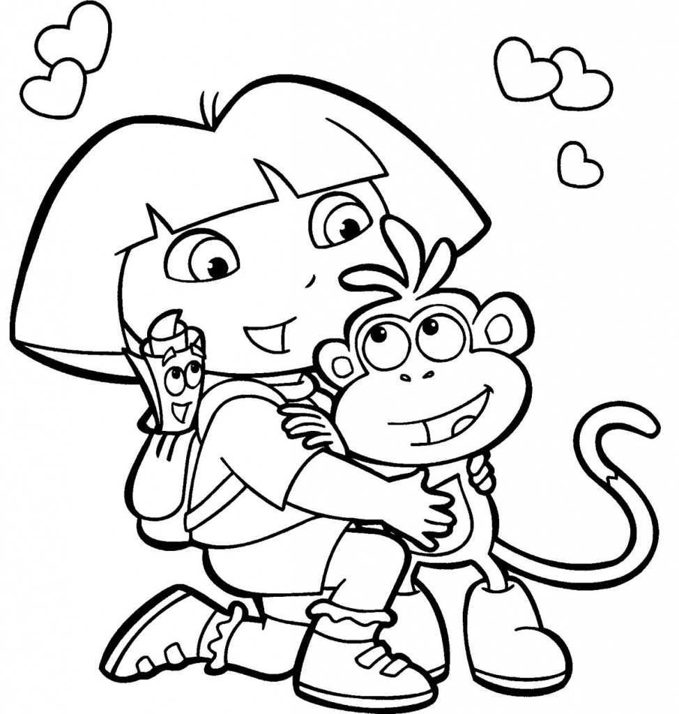 Dora Coloring Pages, Printable Dora Coloring Pages, Free Dora - Dora Map Printable