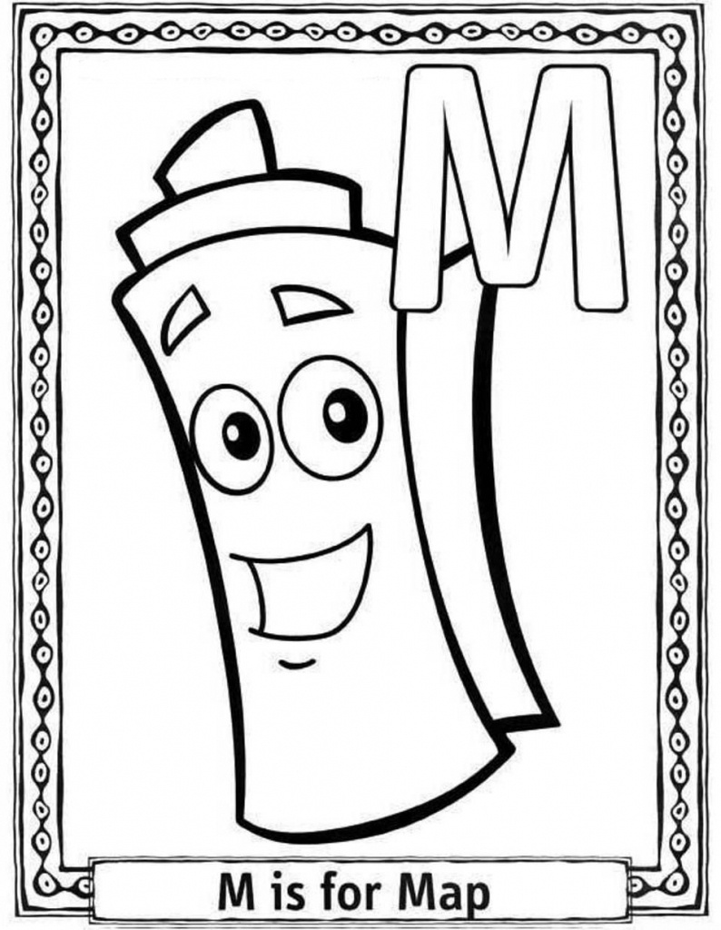 Dora The Explorer Map Coloring Pages - Coloring Home - Dora Map Printable