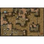 Double Sided Map   Desert Outpost/cliffside Citadel   Star Wars Map   Star Wars Miniatures Printable Maps