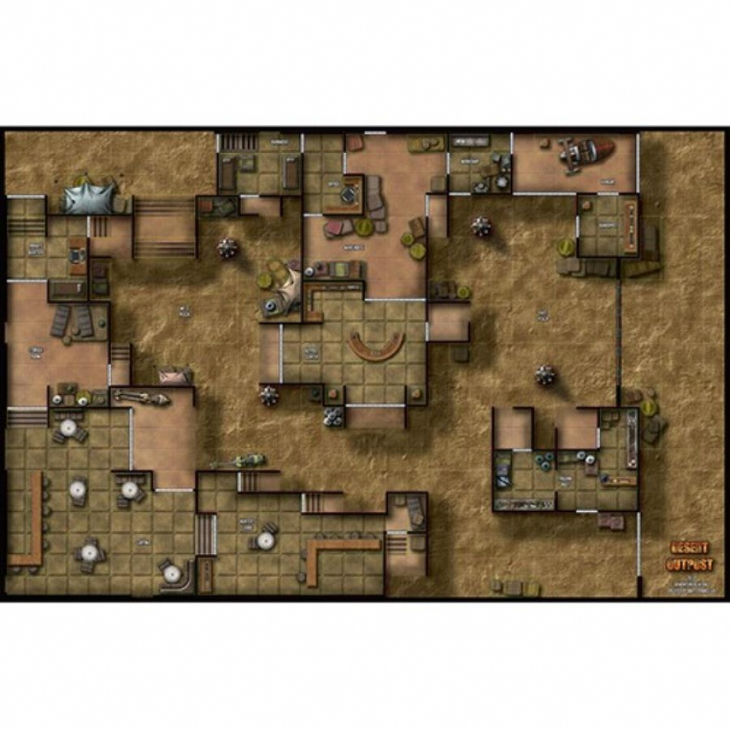 Double-Sided Map - Desert Outpost/cliffside Citadel - Star Wars Map - Star Wars Miniatures Printable Maps