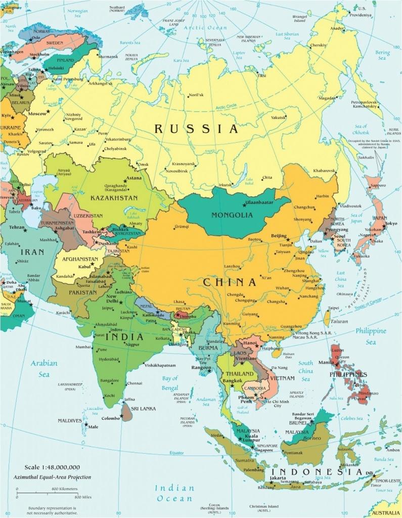 Download Asia Map No Labels Montessori 19 Free Printable Maps Europe - Free Printable Map Of Asia