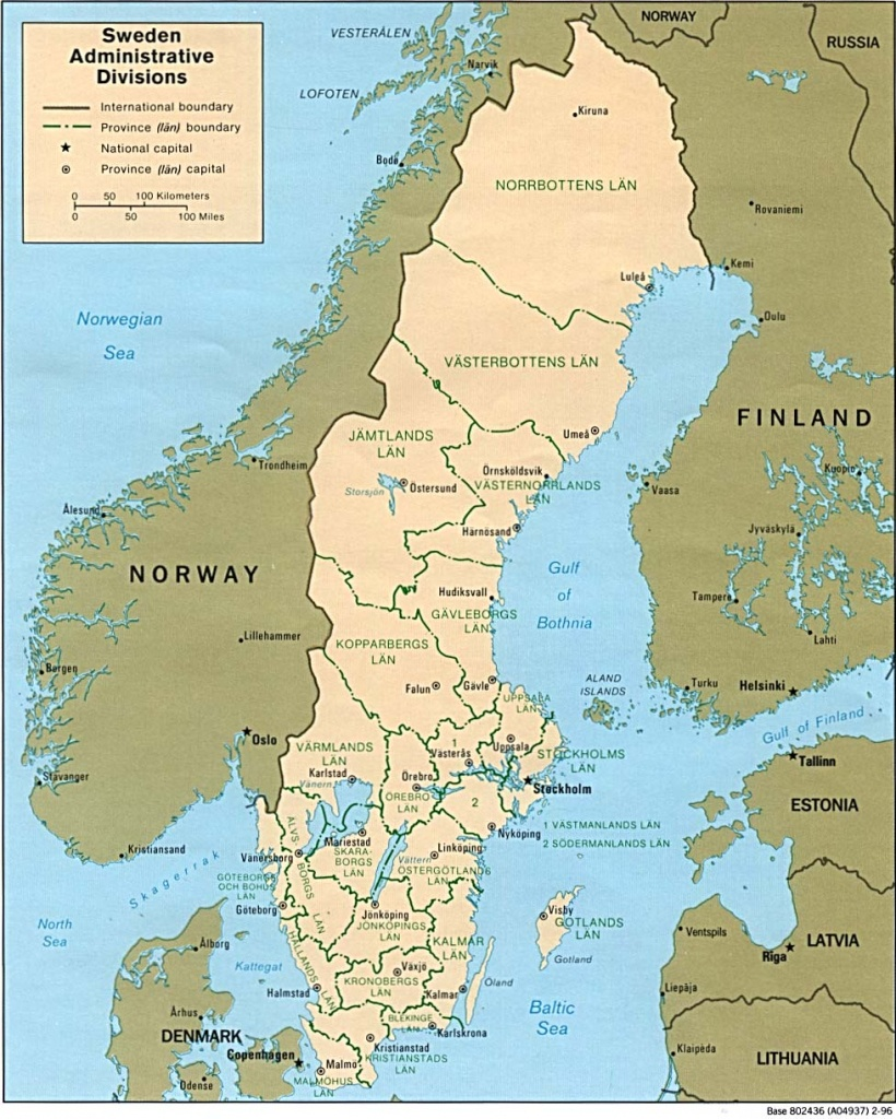 Download Free Sweden Maps - Printable Map Of Sweden