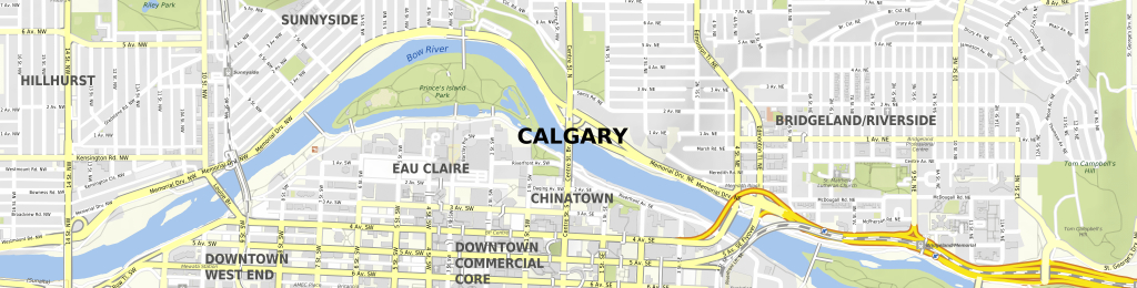 Download Map Calgary - Printable Map Of Downtown Calgary