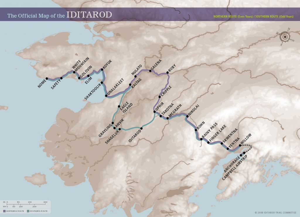 Download, Print, And Use These Maps With Students. – Iditarod - Printable Iditarod Trail Map
