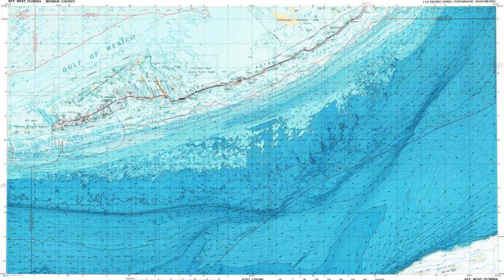Download Topographic Map In Area Of Key West, Marathon, Layton - Florida Keys Topographic Map