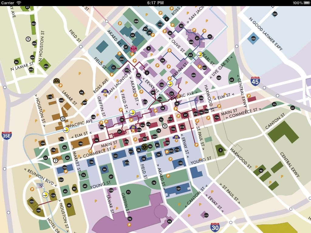 Downtown Dallas Map And Guide | Image Of Dallas Maps - Download Dart - Map Of Downtown Dallas Texas