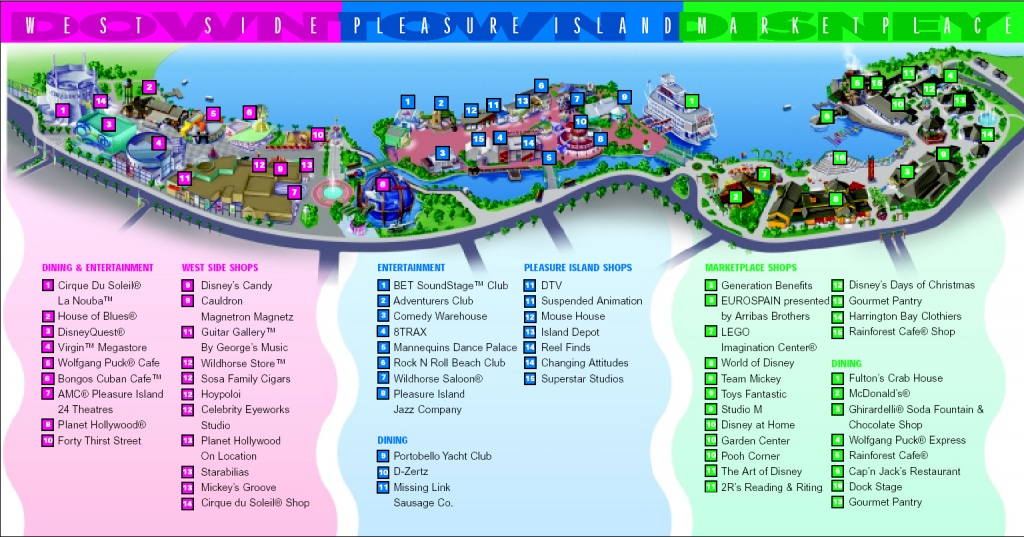 Downtown Disney Area | Walt Disney World Resort | Disney-Vacation - Map Of Downtown Disney Orlando Florida