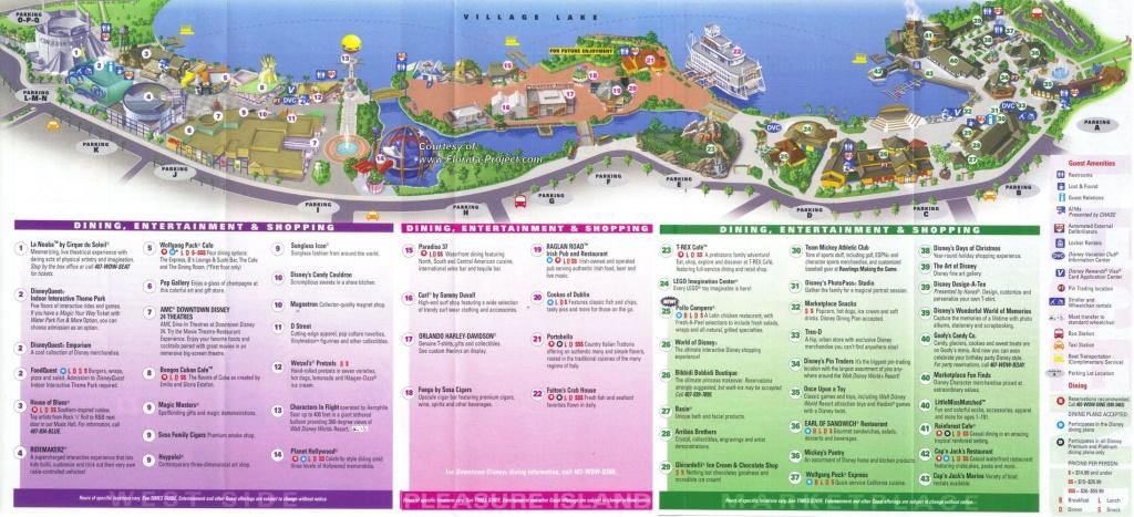 Downtown Disney Guidemaps - Map Of Disney Springs Florida