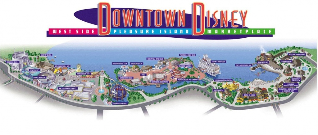 Downtown Disney Review | Disney | Disney Map, Downtown Disney - Map Of Downtown Disney Orlando Florida